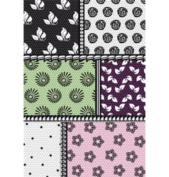 Fabric with floral pattern vector