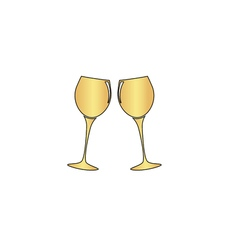 Clink glasses computer symbol vector
