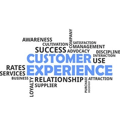 Word cloud customer experience vector