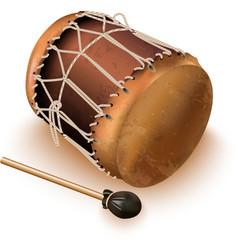 Traditional bungas drums vector