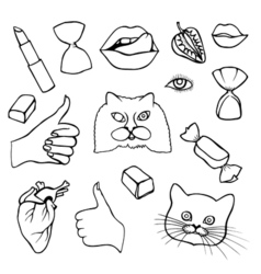 Sticker patch set collection vector