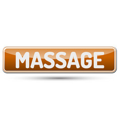 Massage - abstract beautiful button with text vector