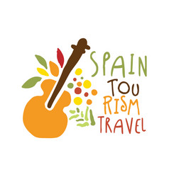 spain tourism logo template hand drawn vector image