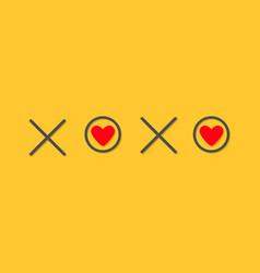 Xoxo hugs and kisses sign symbol mark love card vector