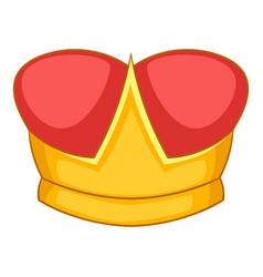 Duke crown icon cartoon style vector