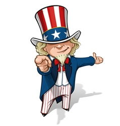 Uncle Sam I Want You Presenting vector image