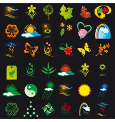 Set of elements of nature vector