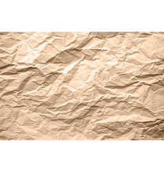 Light brown texture of crumpled paper vector