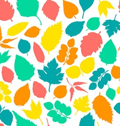 Pattern with leaves vector