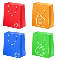 bags with eco symbol vector image