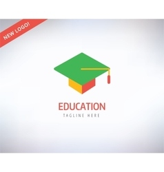 Graduation hat logo icon education vector