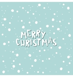 Merry christmas on a light blue background with vector