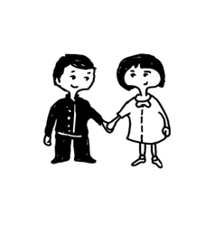Holding hands vector