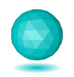 Abstract light blue low polygonal sphere vector image