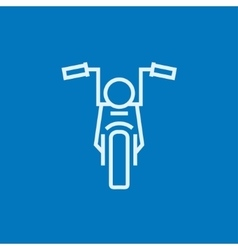 Motorcycle line icon vector