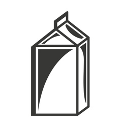 Milk box isolated icon design vector