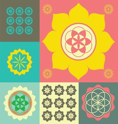Life flower ornament vector