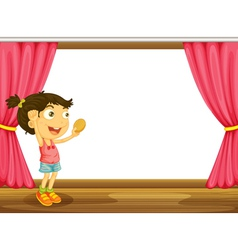 A girl and a window vector image vector image