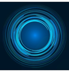 Abstract blue green and yellow swirl circle vector image