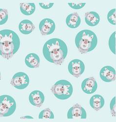 Alpaca or lama seamless pattern vector
