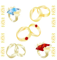 assortment rings vector image vector image