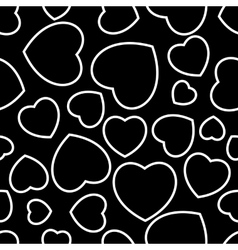 black hearts seamless vector image vector image