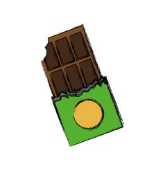 Chocolate bar icon vector
