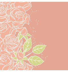 Floral background with rose in pastel tones vector image