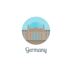 Germany landmark isolated round icon vector image vector image