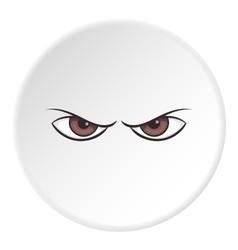 Gloomy eyes icon cartoon style vector