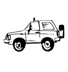 Hand drawn car vector image