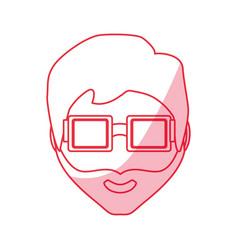 Hipster face man vector