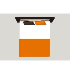 Home furniture - bed Interior element Bedroom vector image vector image