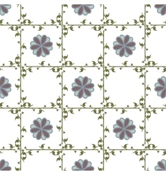 Leaf and flower geometric seamless pattern vector