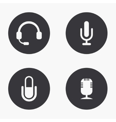 modern microphone icons set vector image vector image