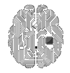 Motherboard brain vector