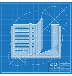notebook icon Epsblueprint 0 vector image