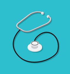 phonendoscope or stethoscope medical instrument vector image vector image