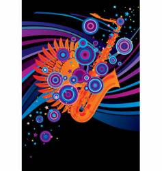 saxophone poster vector image vector image