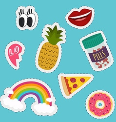 Stickers and handwritten notes collection fashion vector