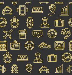 Taxi services pattern background vector