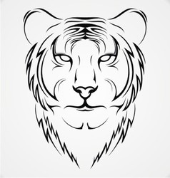 Tribal Tiger vector image vector image