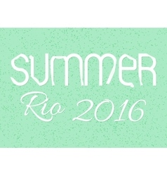 The inscription summer 2016 game olympic vector