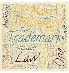 california trademark attorney text background vector image