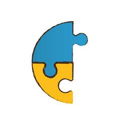 puzzle pieces work image vector image