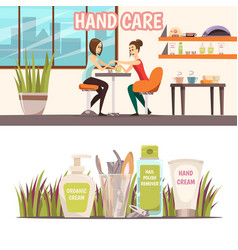 Manicure banners set vector