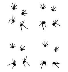 Footprints of lizard vector