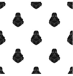 Librarian icon in black style isolated on white vector