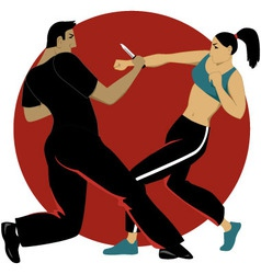 Self-defense for women vector