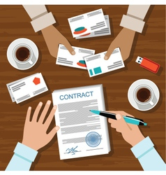 Contract for a business meeting vector